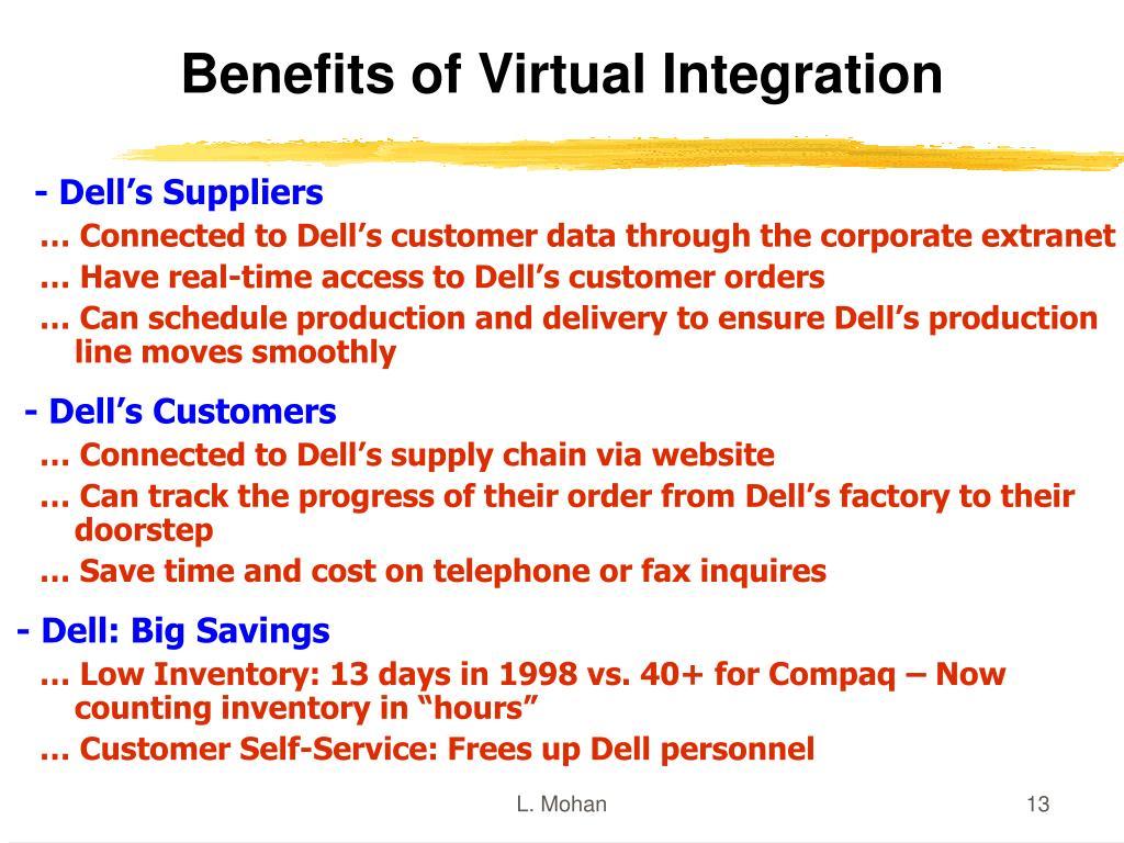 Benefits of Virtual Integration