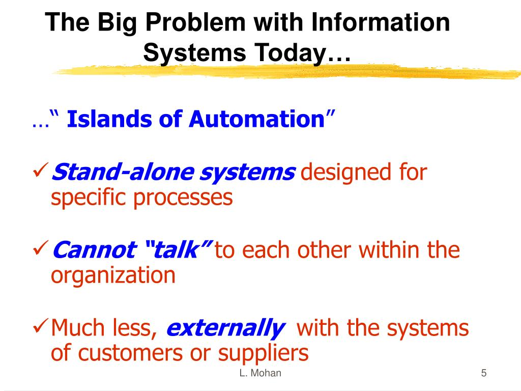 The Big Problem with Information Systems Today…