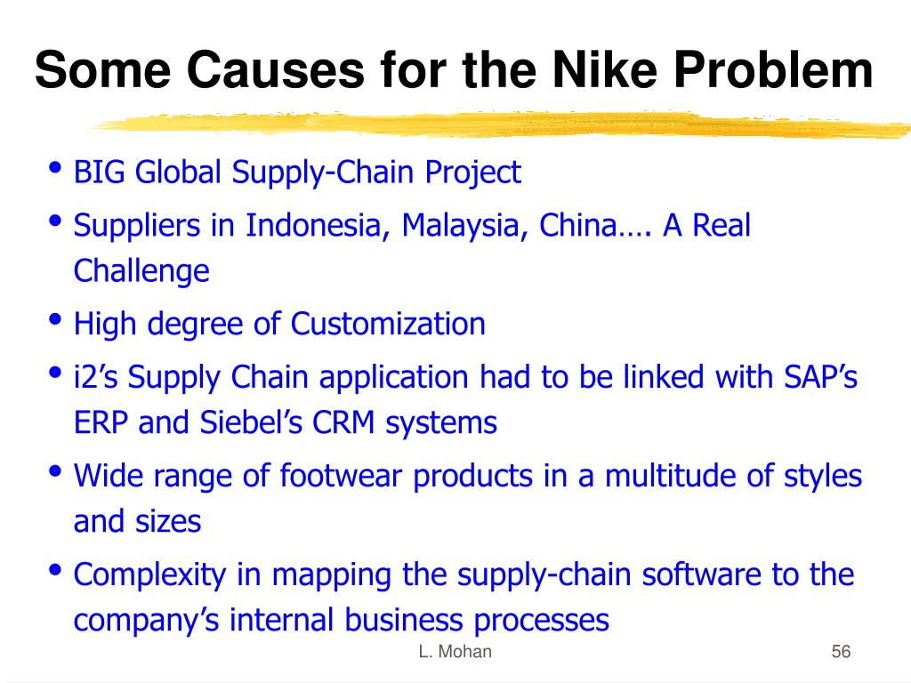 Some Causes for the Nike Problem