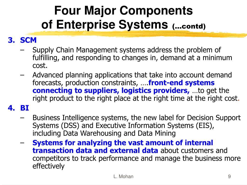 Four Major Components