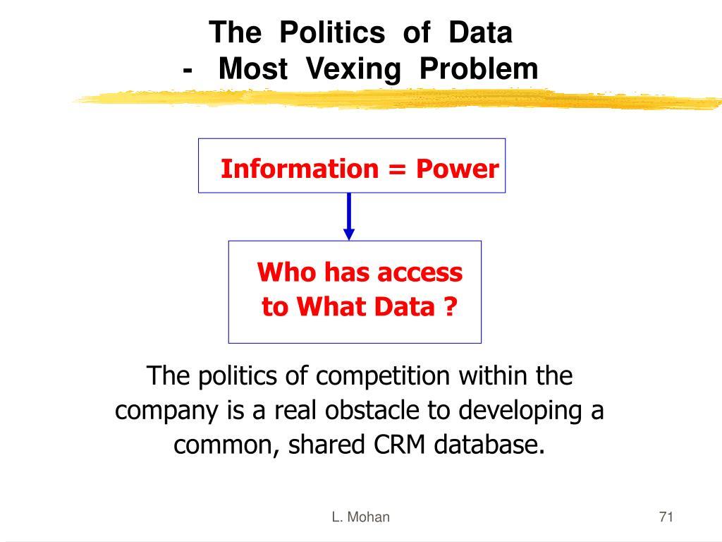 The  Politics  of  Data