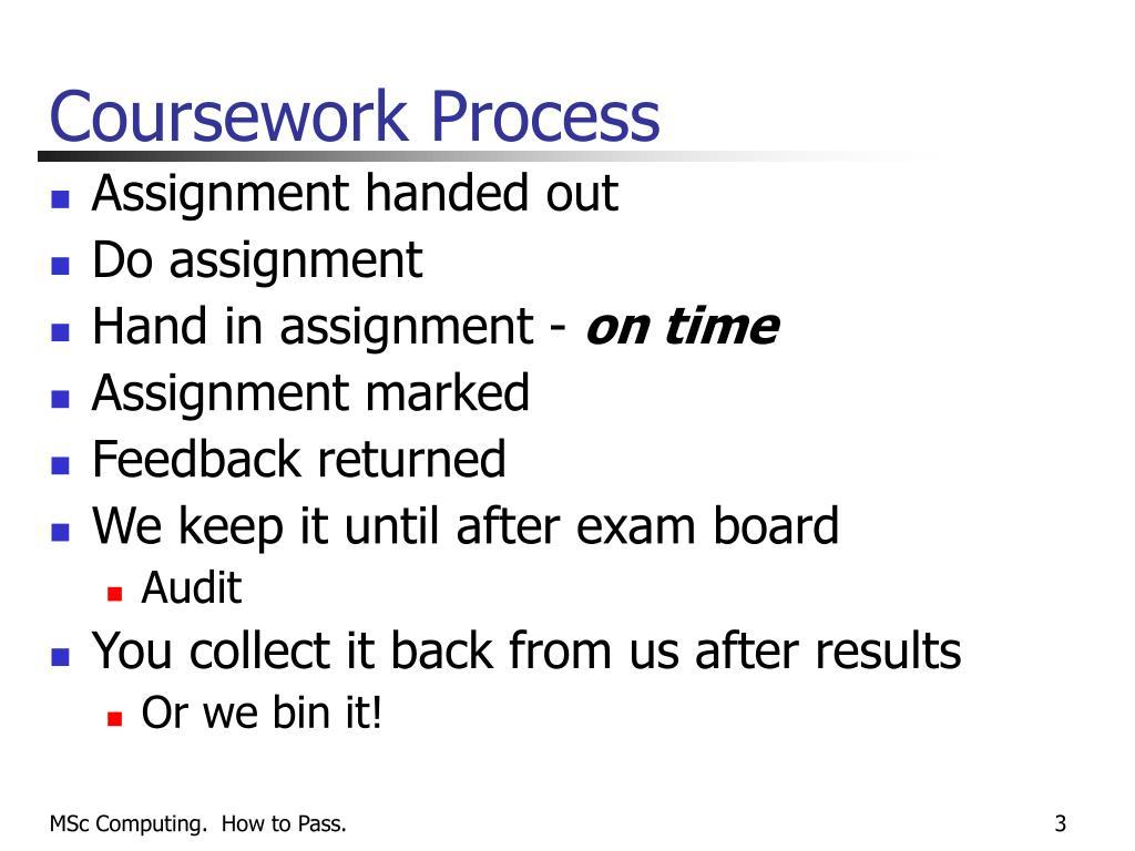 Coursework Process