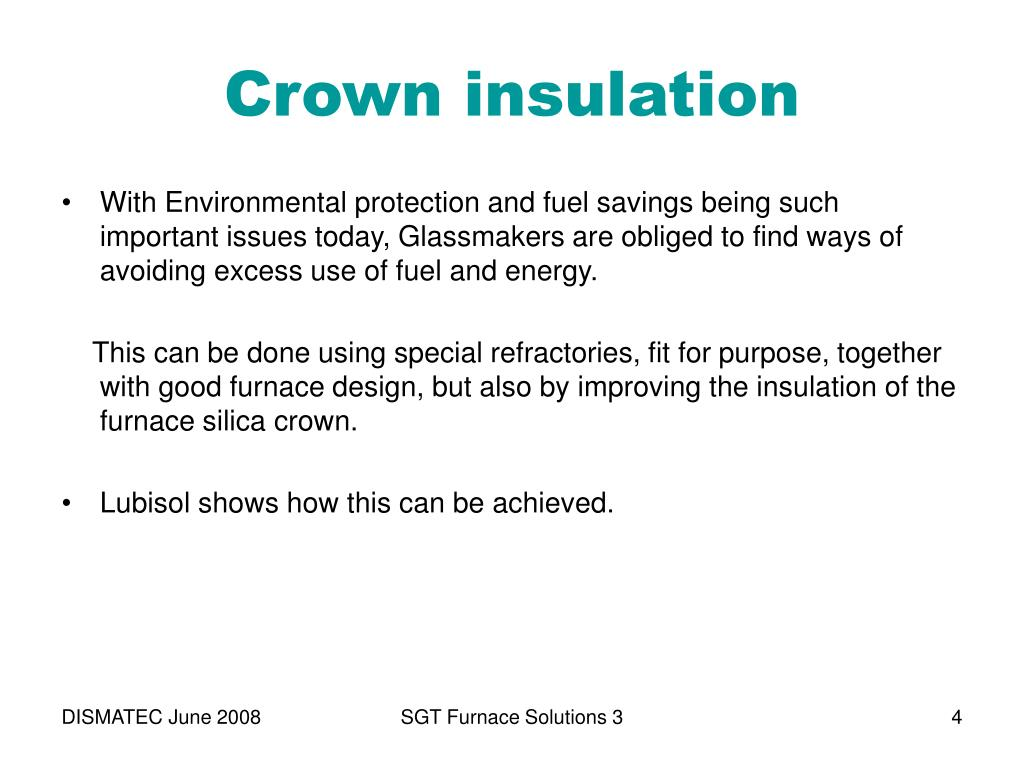 Crown insulation