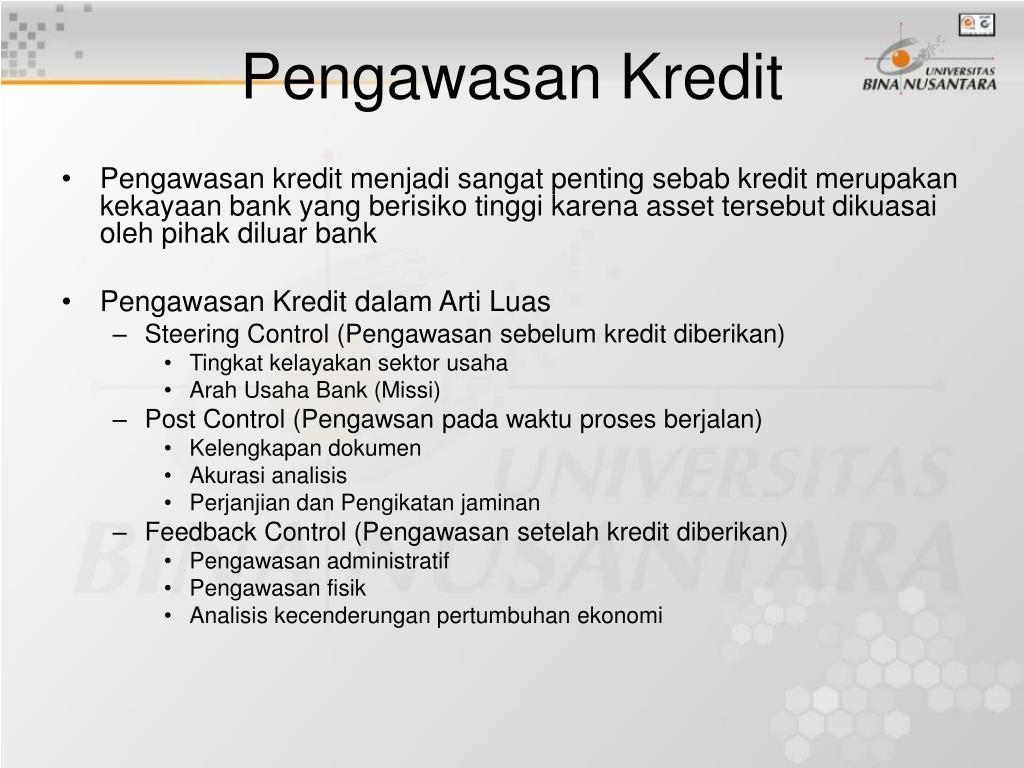 Pengawasan Kredit