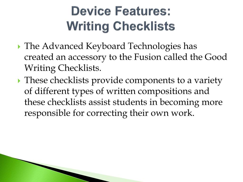 Device Features: