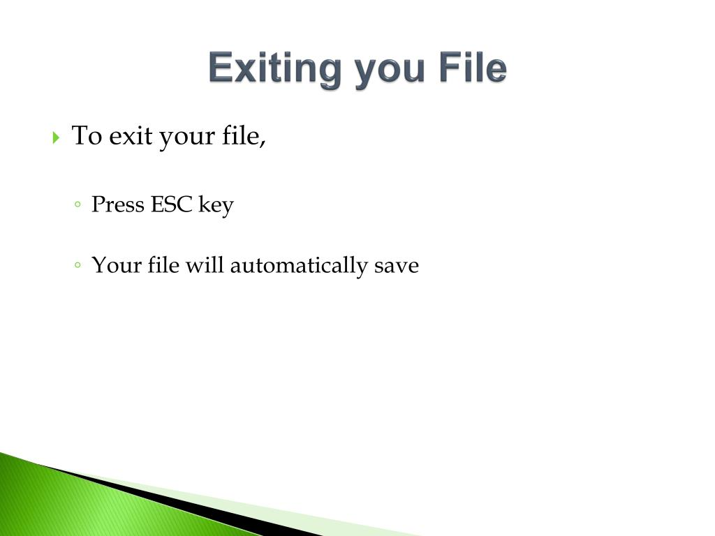 Exiting you File