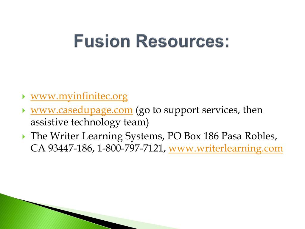 Fusion Resources: