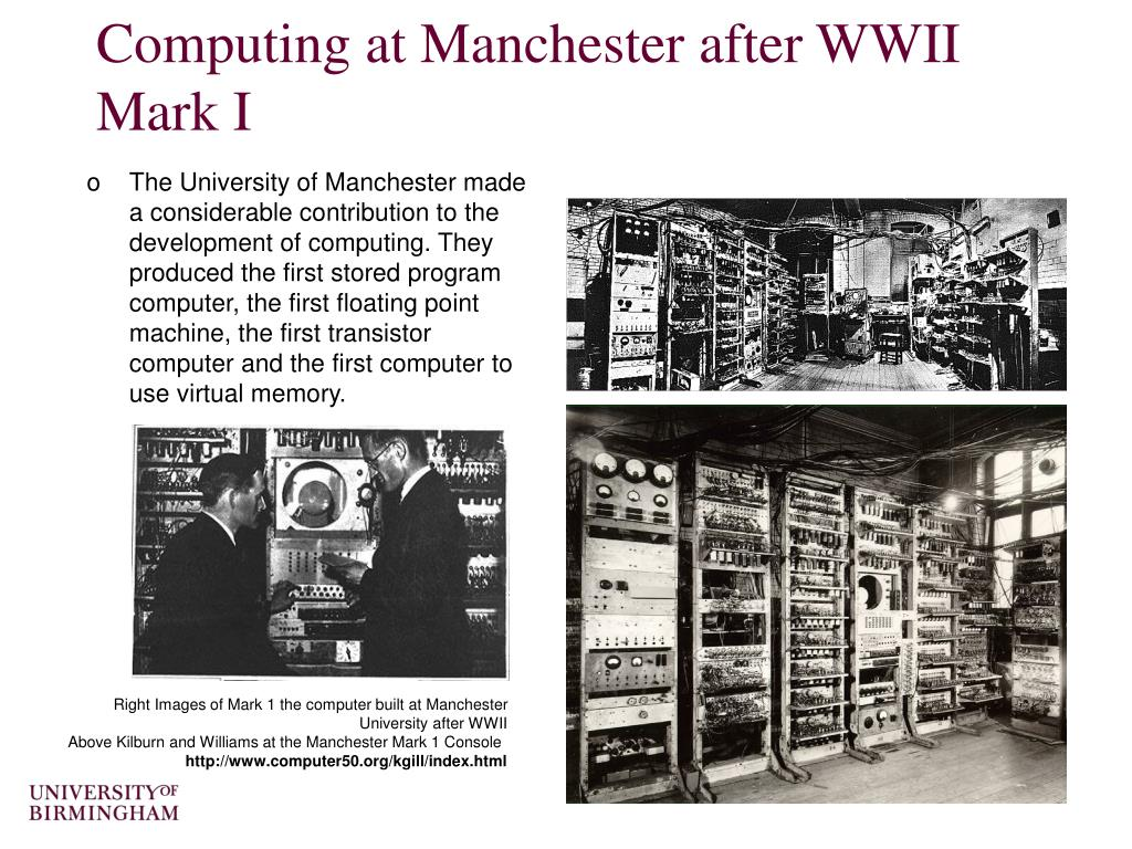 Computing at Manchester after WWII
