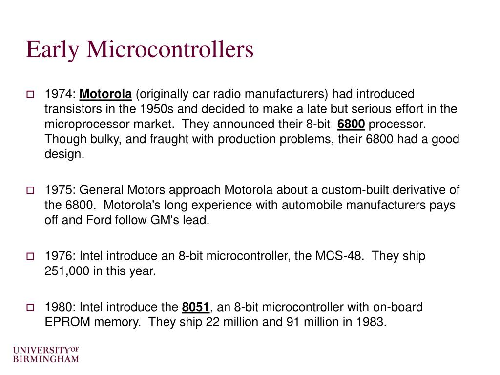 Early Microcontrollers