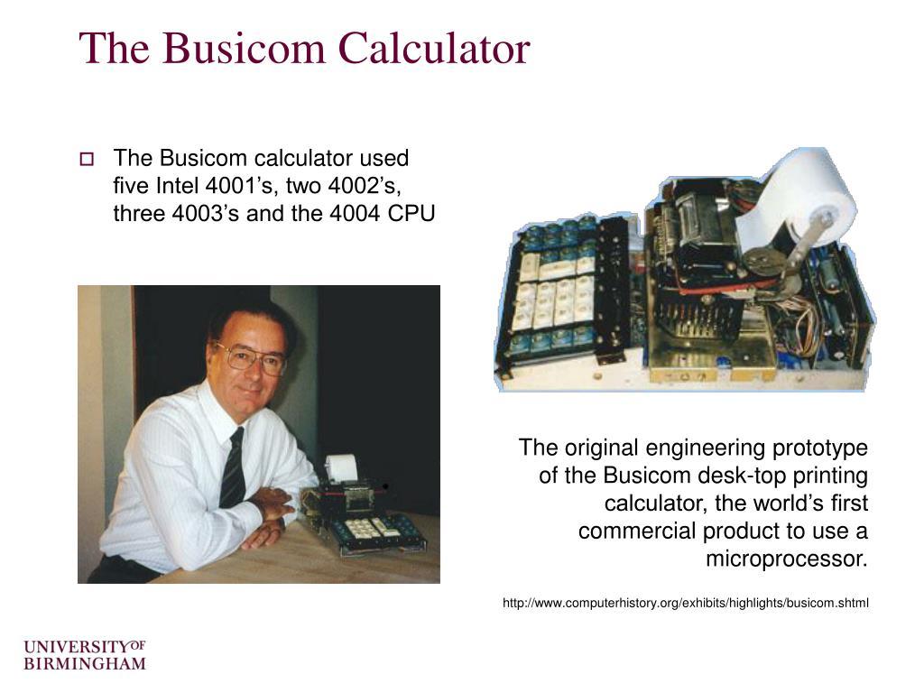 The Busicom Calculator
