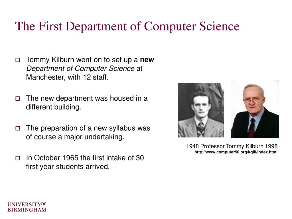 The First Department of Computer Science