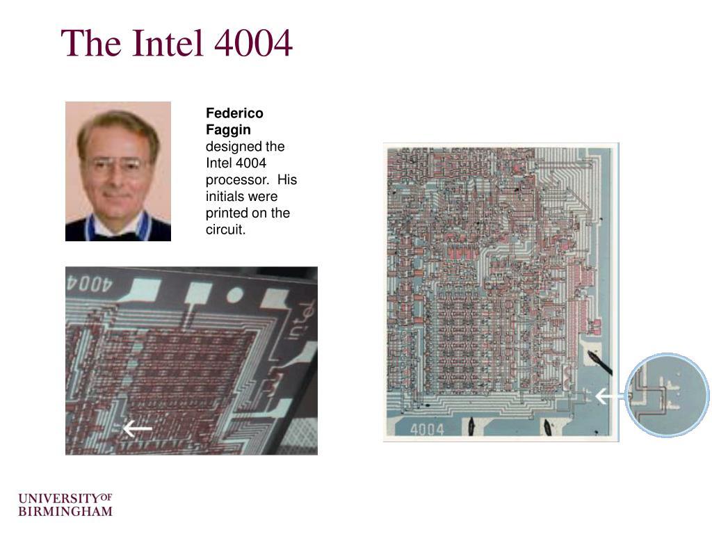 The Intel 4004