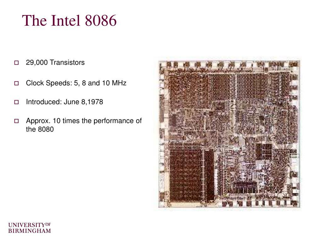 The Intel 8086