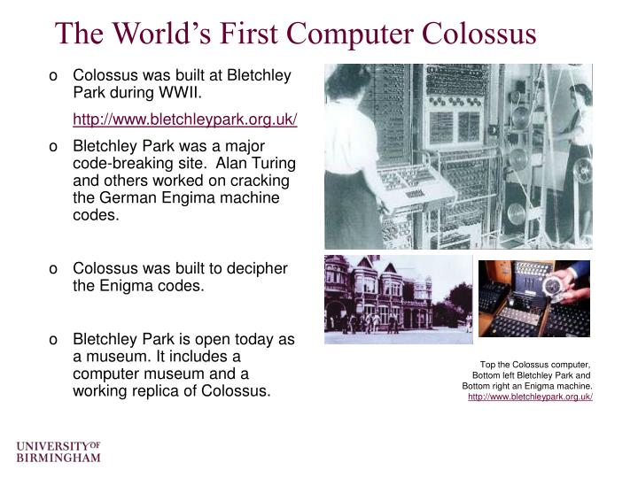 The world s first computer colossus