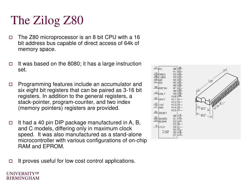 The Zilog Z80