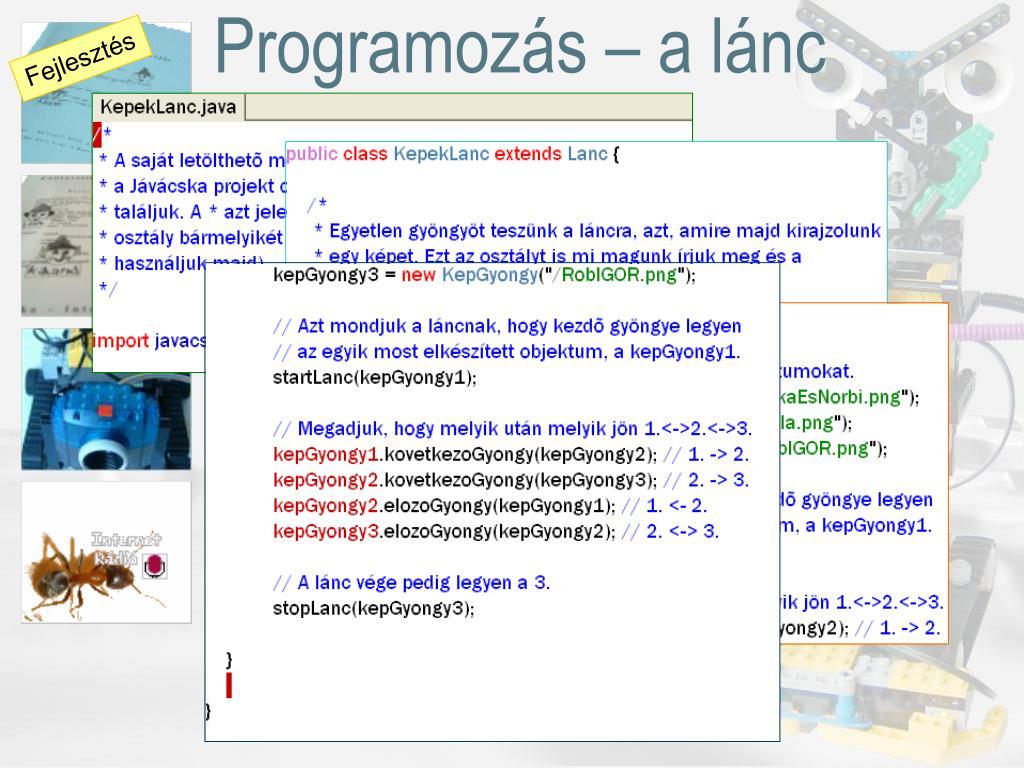 Programozás – a lánc