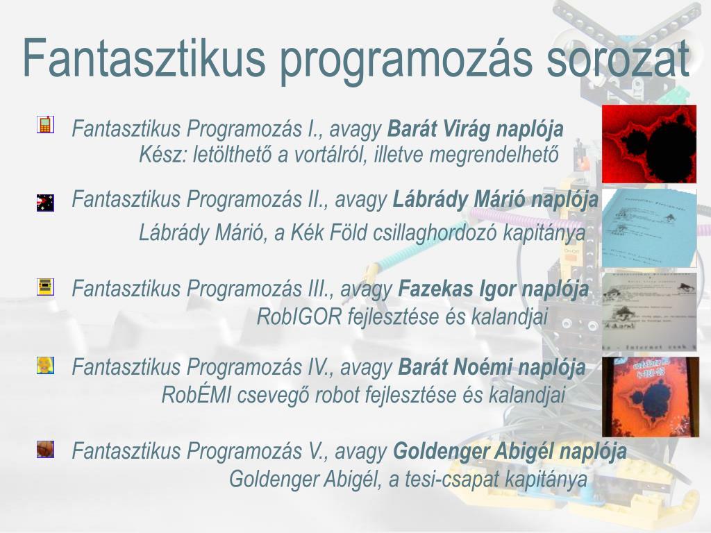 Fantasztikus programozás sorozat