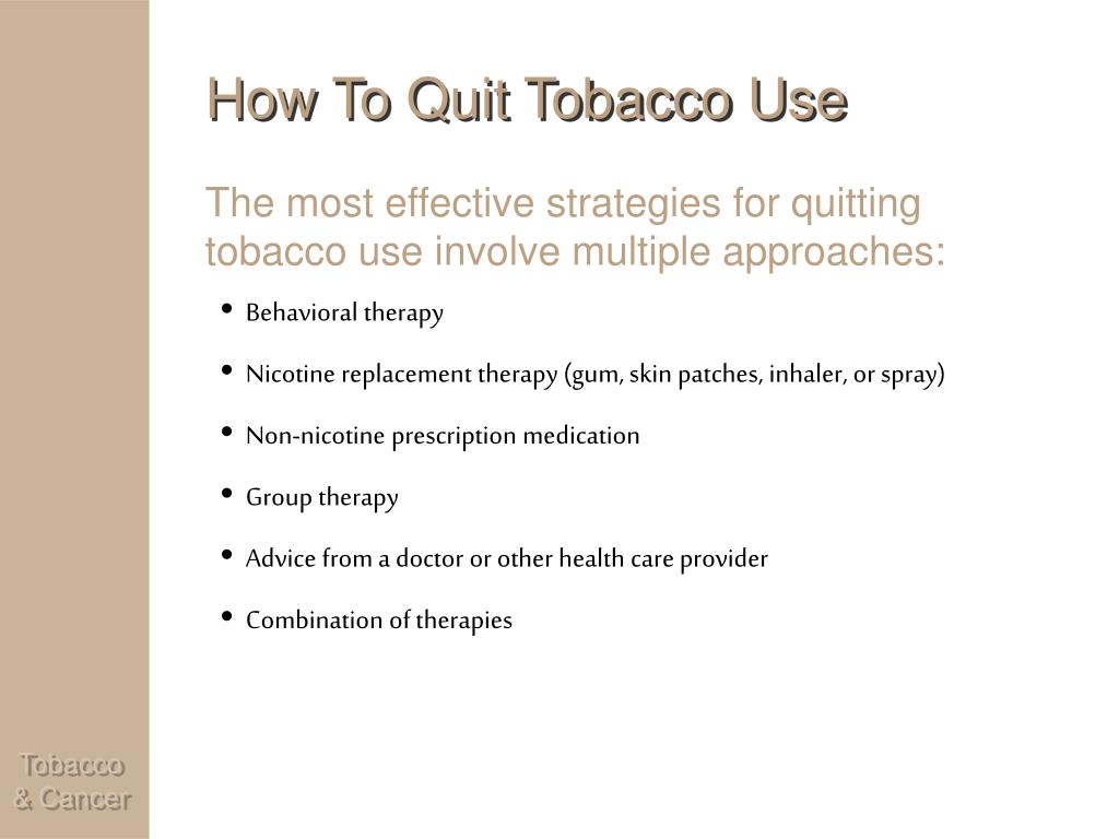 How To Quit Tobacco Use