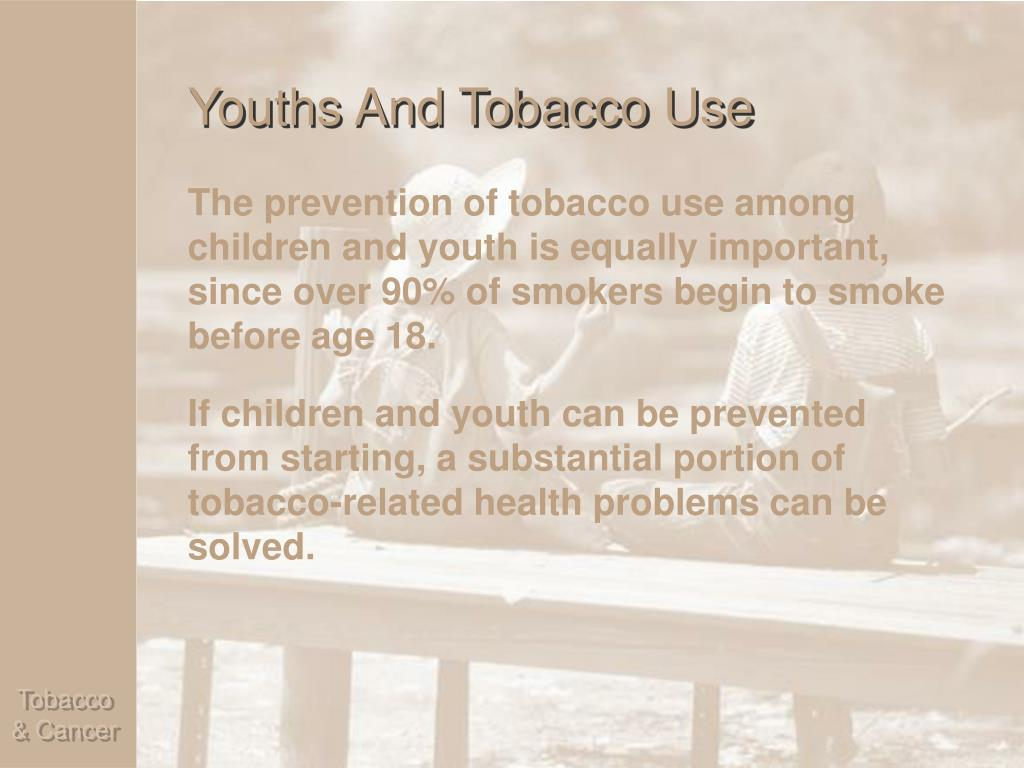 Youths And Tobacco Use