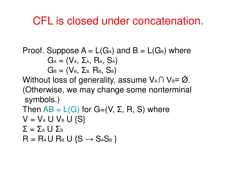 CFL is closed under concatenation.
