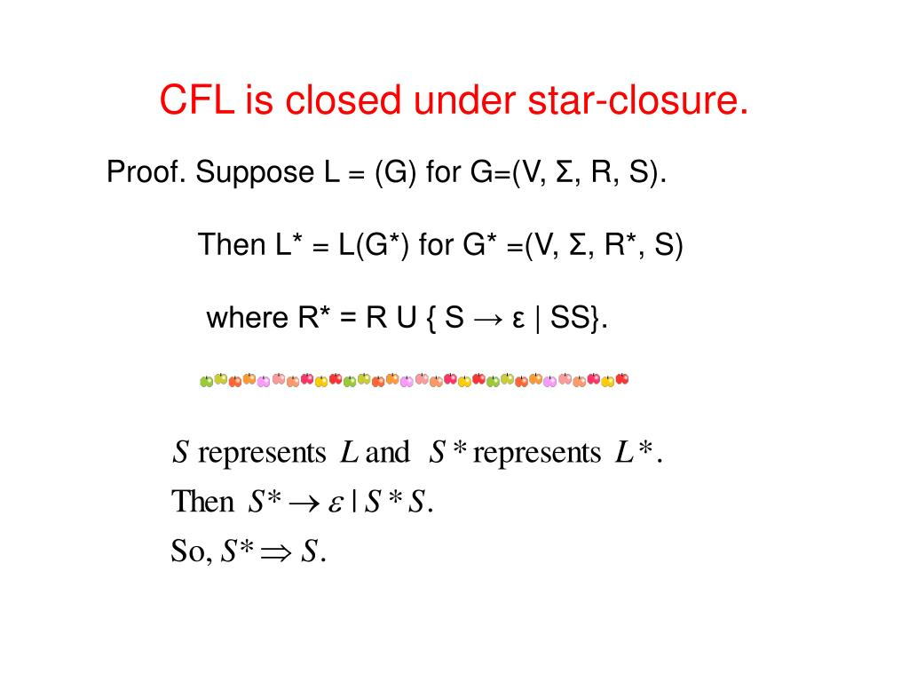 CFL is closed under star-closure.