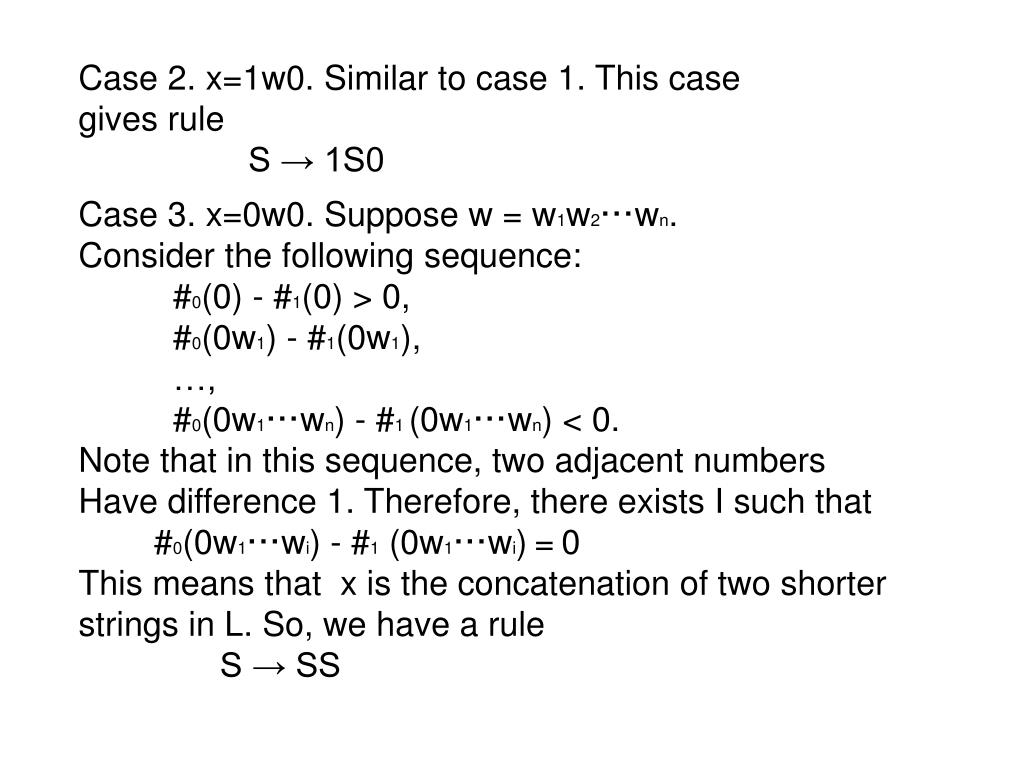 Case 2. x=1w0. Similar to case 1. This case