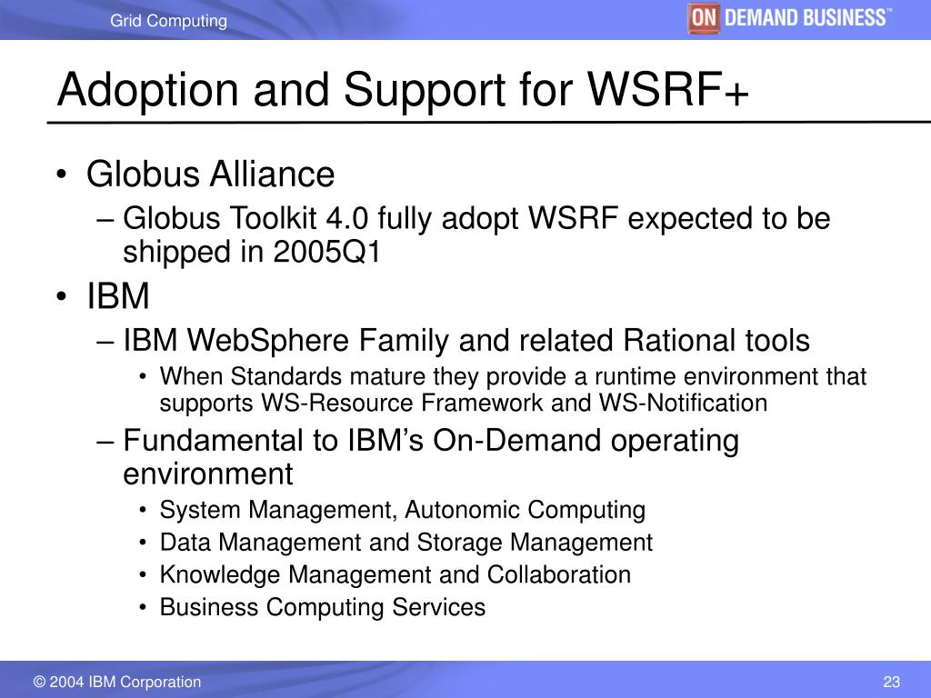 Adoption and Support for WSRF+