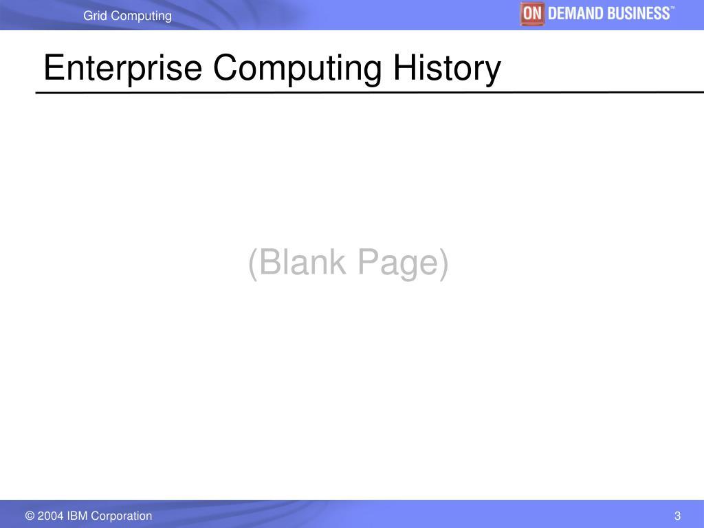 Enterprise Computing History