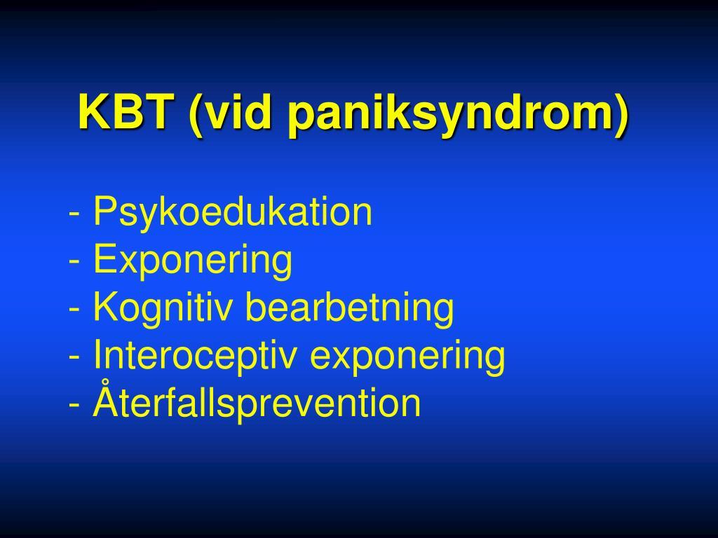 KBT (vid paniksyndrom)