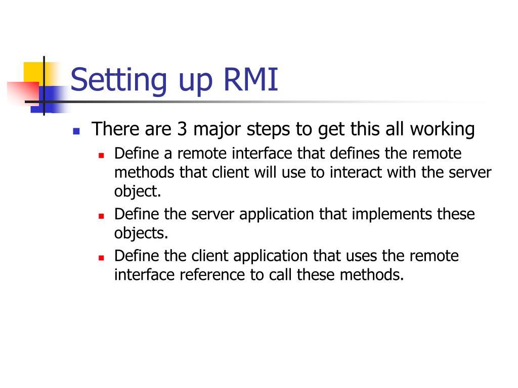 Setting up RMI