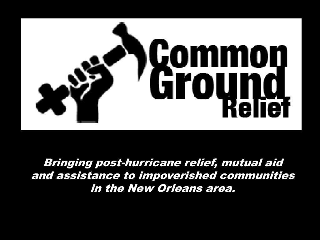 Bringing post-hurricane relief, mutual aid
