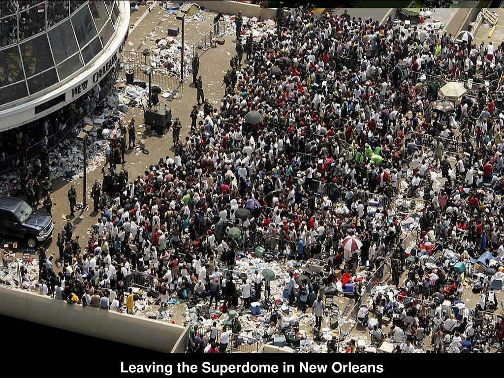 Leaving the Superdome in New Orleans
