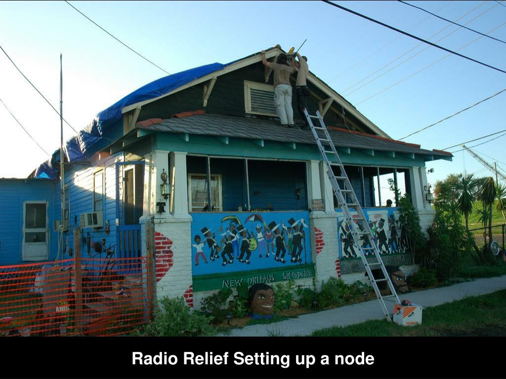 Radio Relief Setting up a node