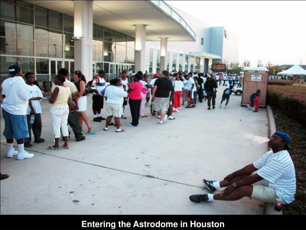 Entering the Astrodome in Houston