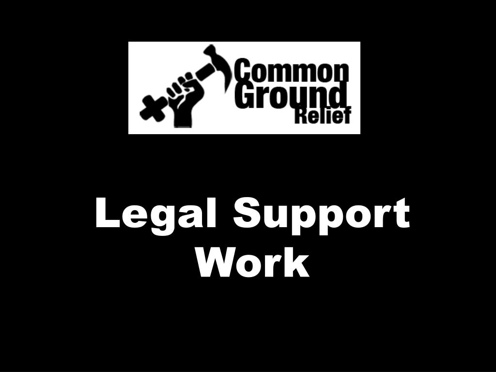 Legal Support Work