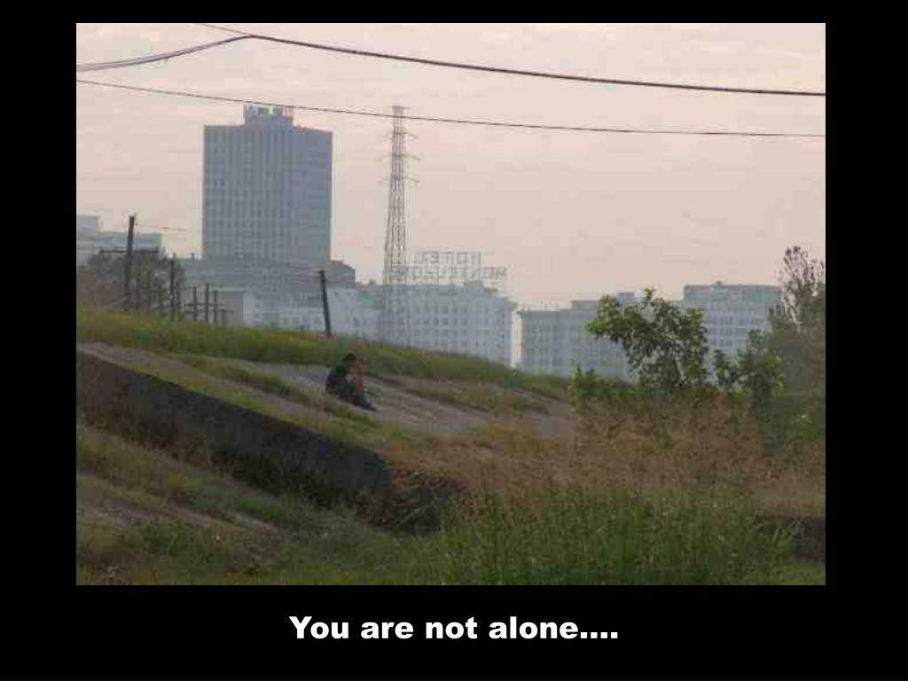 You are not alone….