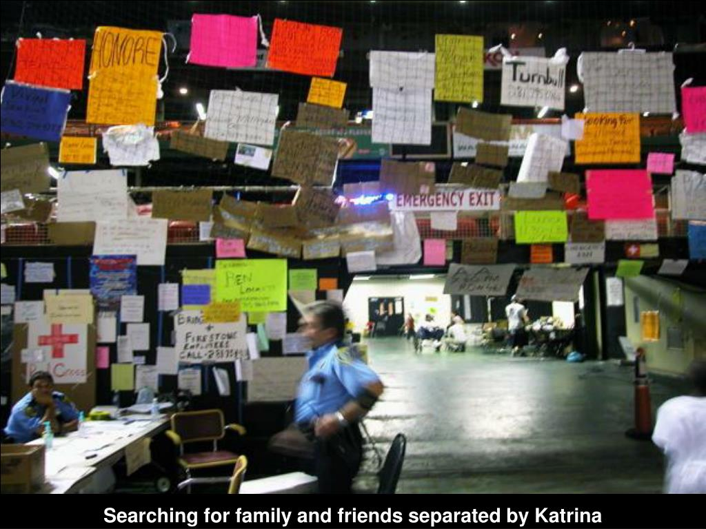 Searching for family and friends separated by Katrina