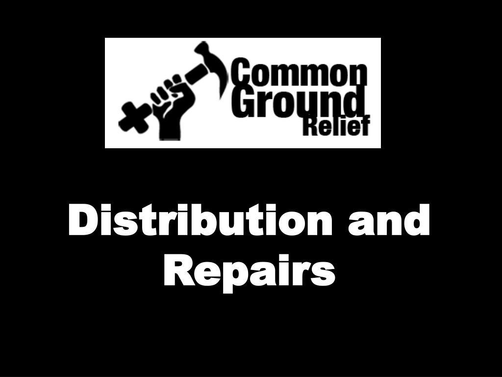 Distribution and Repairs