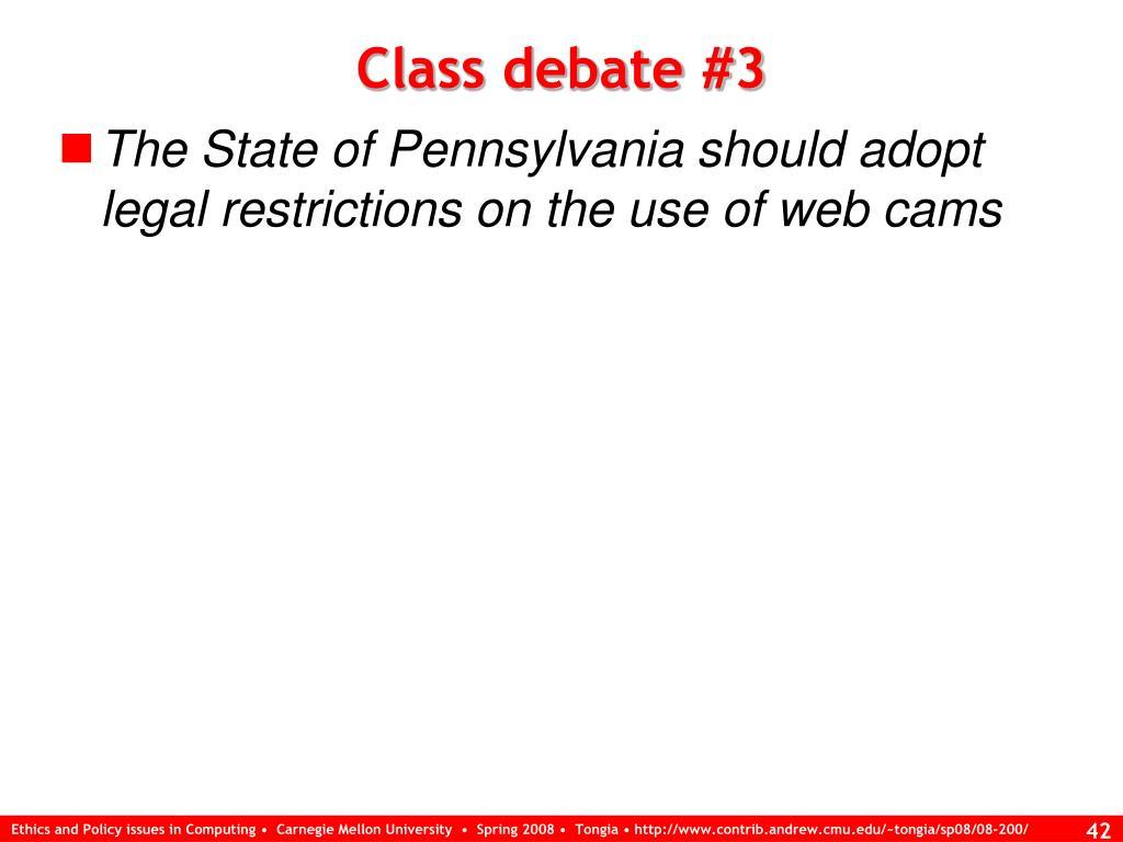 Class debate #3