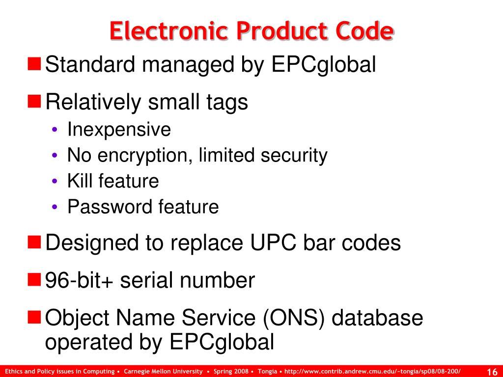 Electronic Product Code