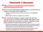 homework 3 discussion