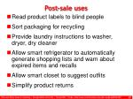 post sale uses