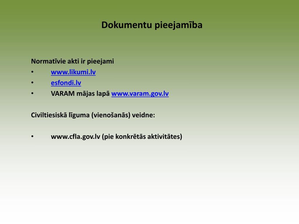 Dokumentu pieejamība