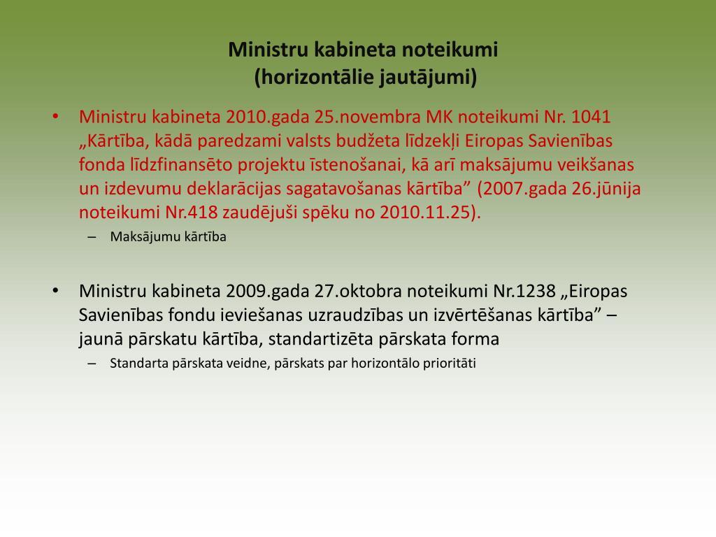 Ministru kabineta noteikumi