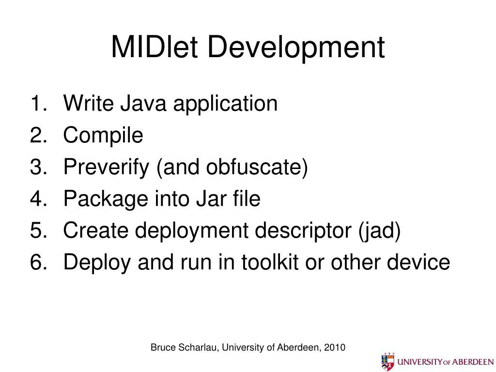 MIDlet Development