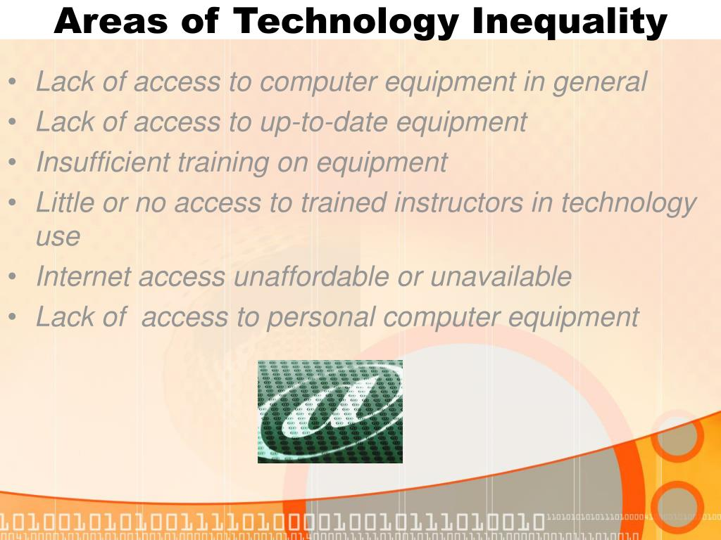 Areas of Technology Inequality