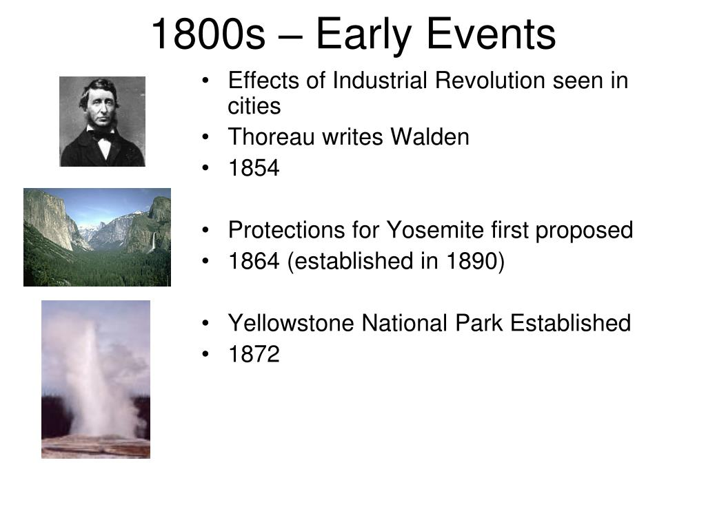 1800s – Early Events