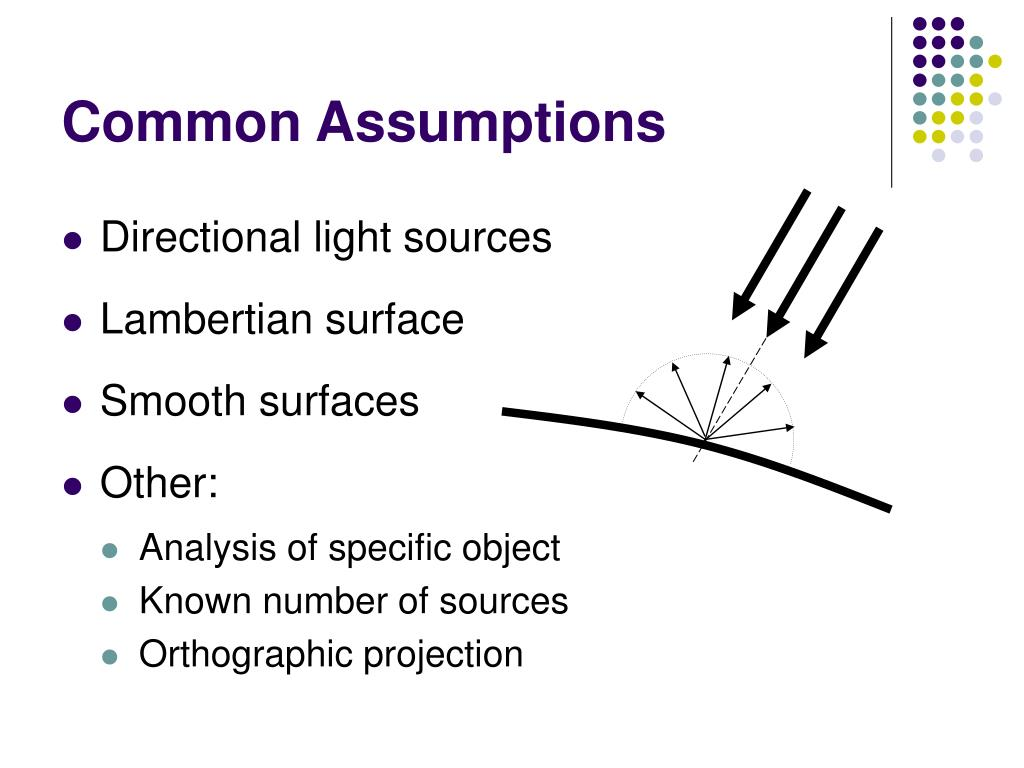 Common Assumptions