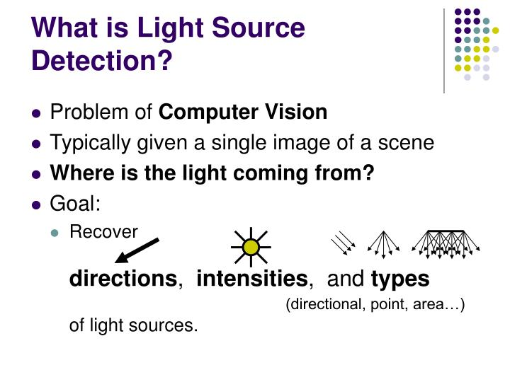 What is light source detection