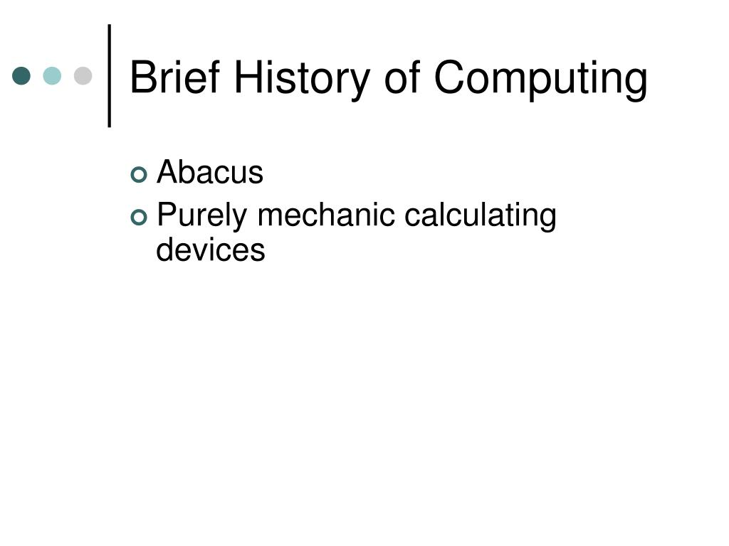 Brief History of Computing